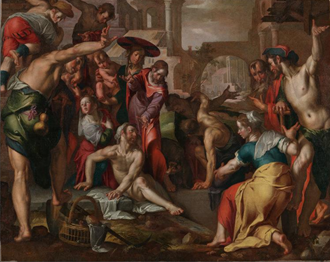 The Raising of Lazarus, by Joachim Wteweal (1566 – 1638)
