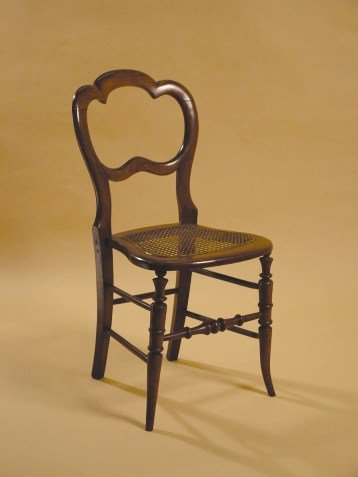 Crown-backed Side Chair with Cane Seat