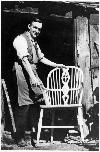 Jack Goodchild in his workshop